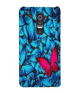 Colourful Butterfly Designer Back Case Cover for LG G2::LG G2 D800 D980