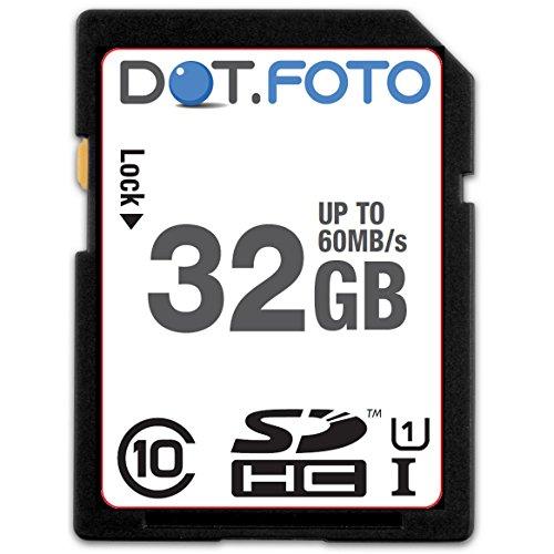 Dot.Foto Extreme SDHC 32Gb Class 10 UHS-1 (bis 60MB/s Lesen) Speicherkarte für SilverCrest SCAZ 5.00 A1, SCAW 5.00 B2