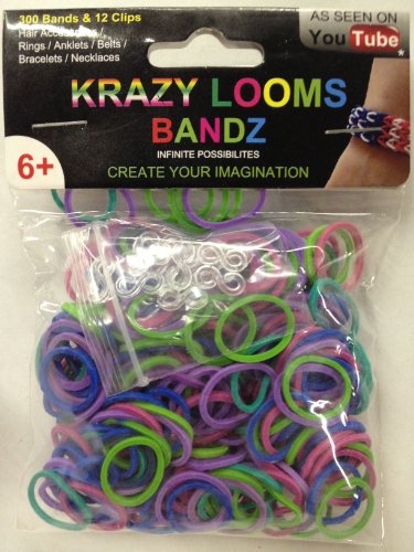 Krazy Looms Bandz Mixed Color for Rainbow Loom