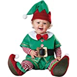 InCharacter Costumes, LLC Santa s Lil Elf Costume, Green Red, Small (6 to 12 Month)