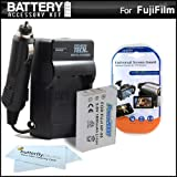 Battery And Charger Kit For Fuji Fujifilm X100S 16 MP Digital Camera Includes Extended Replacement (1800Mah) For...