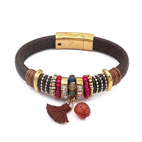 The Starry Night Exotic Atmosphere Minority Joker Popular Brown Tassel Pendant Bracelets for Unisex Teens