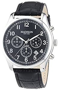 madison new york herren armbanduhr xl chronograph leder g4364a3 uhren. Black Bedroom Furniture Sets. Home Design Ideas
