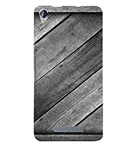 PrintVisa Diagonal Wooden Pattern 3D Hard Polycarbonate Designer Back Case Cover for Micromax Juice 3 Plus