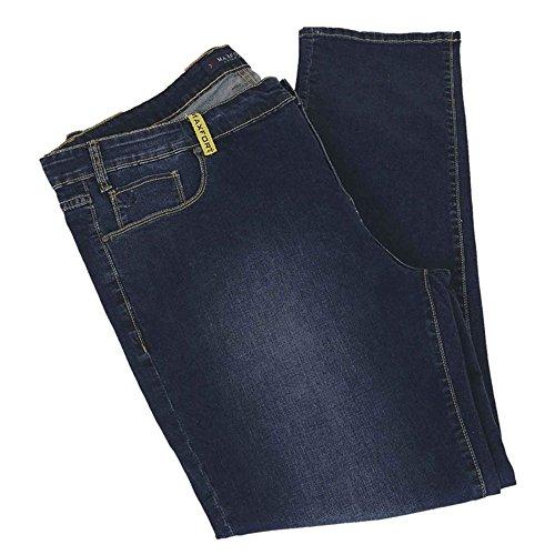 Pantalone jeans taglie forti uomo Maxfort ATO stretch - Blu scuro, 58 GIROVITA 116 CM