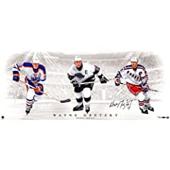 Buy Wayne Gretzky Signed Triple Threat 36x15 Photo Collage (LE of 199) (UDA Auth) by Steiner Sports