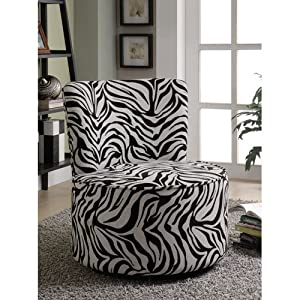 Amazon.com - Coaster 902002 Round Swivel Accent Chair ...