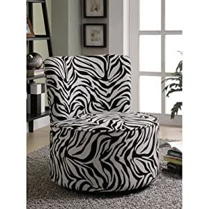 Amazon Com Coaster 902002 Round Swivel Accent Chair