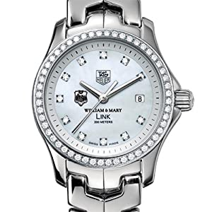 William & Mary Women's TAG Heuer Link Watch with Diamond Bezel