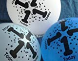 8 - 1st BIRTHDAY BALLOONS - BOY (3 Different colours in pack - Blue, White and Dark Blue)