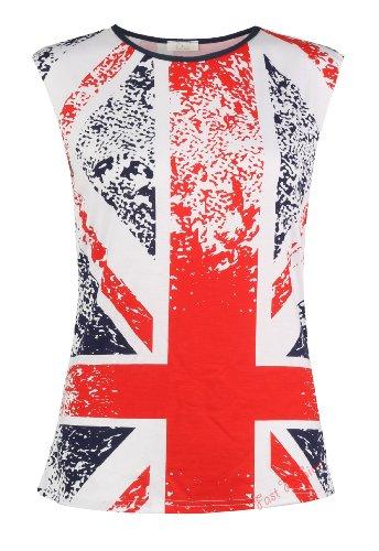 Womens Sleeveless Splash Print Union Jack Great