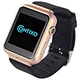 Contixo Smart Watch W3 Android 4.2 with 2M Pixels Webcam, Wi-Fi, Bluetooth, FM, 3G, GPS for Android Smart Phones and Tablets (Golden)