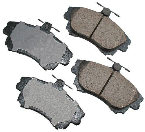 Akebono EUR837 EURO Ultra-Premium Ceramic Front Brake Pad Set For 2000-2004 Volvo S40, V40