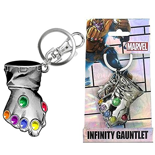 "Marvel Comics Thanos Glove Infinity Gauntlet Pewter 2.5"" Key Chain (with Gift Box)"