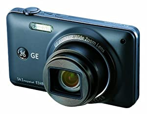 GE E1486TW 14MP Digital Camera with 8X Optical Zoom and 3.0-Inch Touch Panel LCD with Auto Brightness (Black)