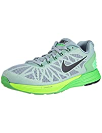 Nike Men's Lunarglide 6, DOVE GREY/BLACK-POISON GREEN-FLASH LIME