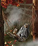 1 X Interactive Skeleton in Hammock spooky Halloween decoration sound-activated