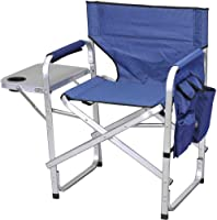 Ming's Mark SL1204-BLUE Blue Full Back Folding Director's Chair from Ming's Mark