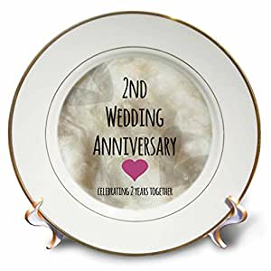 3dRose cp_154429_1 2nd Wedding Anniversary Gift Cotton Celebrating 2 ...