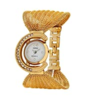 Codice Analogue Glory Golden White Dial Watch for Girls and Women - CD07-G511
