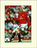 PAUL SCHOLES MANCHESTER UNITED SIGNED AUTOGRAPH PHOTO PRINT IN MOUNT