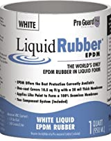 Liquid Rubber White Liquid EPDM Roof Coating 5 Gallon