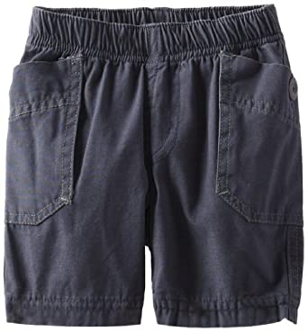 Tea Collection Baby-Boys Infant Side Pocket Shorts, Indigo, 6-12 Months
