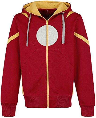 Iron Man Captain America Civil War - Iron Man Zip Hoodie Felpa jogging rosso XL