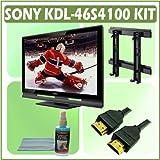 Sony Bravia S-Series KDL-46S4100 46-inch 1080p LCD HDTV + Accessory Kit Bundle with Sony SUWL500L Wa