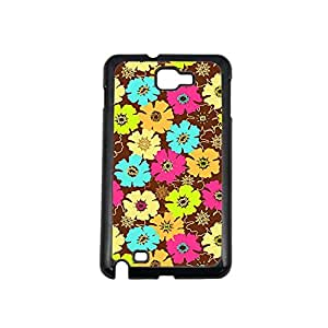 Vibhar printed case back cover for Samsung Galaxy Note 2 BrownMulticolor