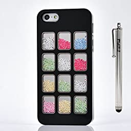 iPhone 4s Case, HYAIZLZ(TM)Colorful Deluxe Bling Moving Diamond Rhinestone Shell Durable Hard Crystal Back Case for iphone 4 4s,design 1