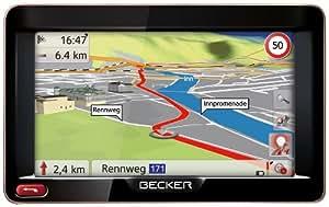 Becker Ready 50 Navigationsgerät (12,7 cm (5'') Bildschirm, 44 Länder Europas, HQ TMC, Text-to-Speech, SituationScan) schwarz/mokka-metallic