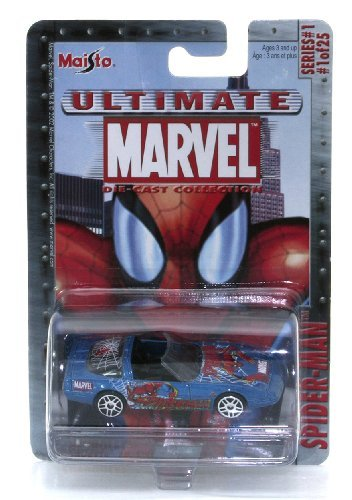 Marvel Ultimate Die Cast Collection Series 1: Spider-Man Chevrolet Corvette ZR-1 Die Cast Car