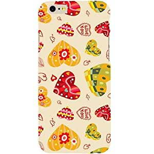 Casotec Cute Heart Pattern Print Design Hard Back Case Cover for Apple iPhone 6 / 6S