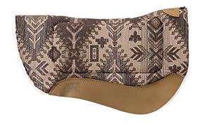 Weaver Leather All Purpose Contoured Barrel Saddle Pad, Fiesta Brown/Tan