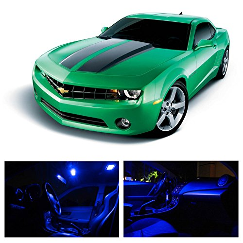 LEDpartsNow Chevy Camaro 2010-2014 Blue Premium LED Interior Lights Package Kit (4 Pieces) (Chevy Camaro Lights compare prices)
