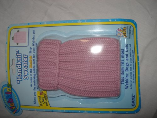 "WE000072 - 5"" HANDKNIT SWEATER Webkinz Clothes New Code Sealed With Tag"