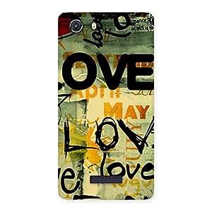 Impressive Love Typo Multicolor Back Case Cover for Micromax Unite 3