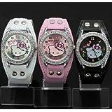 New Lovely Hello Kitty Girls Ladies Wrist Watch Quartz Fashion Best Gift 3pcs