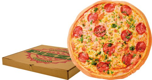 United Labels AG, Cuscino tondo a forma di Pizza, ø 40 cm
