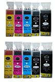 10 Compatible ink cartridges for Canon PIXMA MG6150. Contains: PGI-525BK CLI-526 BK/C/M/Y. *. *. *