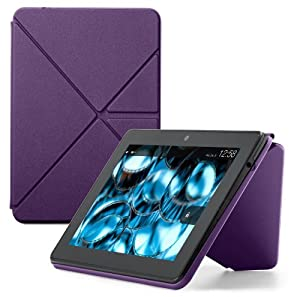 "Amazon Kindle Fire HDX Standing Polyurethane Origami Case (will only fit Kindle Fire HDX 7""), Purple at Electronic-Readers.com"