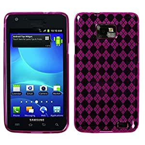 Asmyna SAMI777CASKCA063 Argyle Premium Slim and Durable Protective Cover for SAMSUNG: I777 (Galaxy S II) - 1 Pack - Retail Packaging - Hot Pink