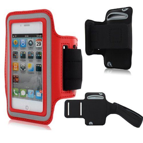 Moon Monkey Easefit Sweat-Proof Neoprene Sports Armband For Iphone 5, 5S, 5C And Ipod Touch 5Th Generation (Red)