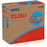 "WypAll X60 Reusable Wipers (34790) White, 9.1"" Width x 16.8"" Length (Case of 10, 126 Wipers per Pop-Up Box)"