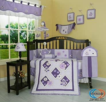 Trend Bedding Sets Boutique Brand New GEENNY Lavender Butterfly PCS Baby Nursery CRIB BEDDING SET