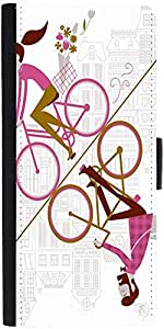 Snoogg Mirror Cycling 2557 Designer Protective Phone Flip Case Cover For One Plus X
