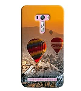 Blue Throat Hot Air Baloon Hard Plastic Printed Back Cover/Case For Asus Zenfone Selfie