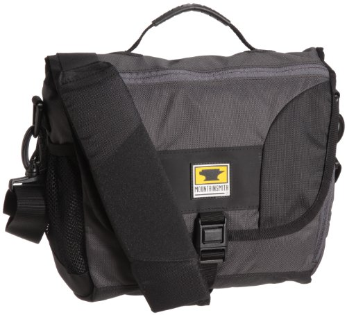 Mountainsmith Messenger Bag Recycled Shoulder Bag, Heritage Black , Small