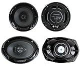 """Kenwood KFC-1665S 6.5"""" 300W 2-Way Plus (2) 6x9"""" 400W 3-Way Car Speakers"""